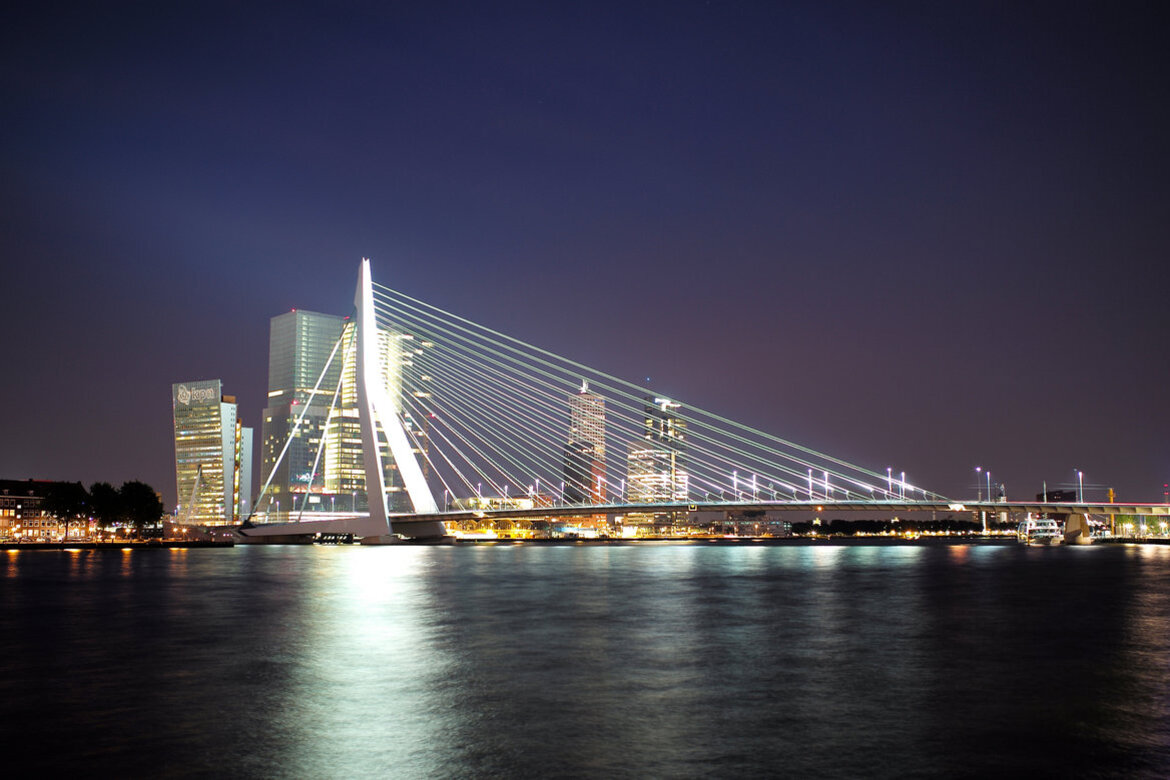 Rotterdam, Holland's Erasmus Bridge