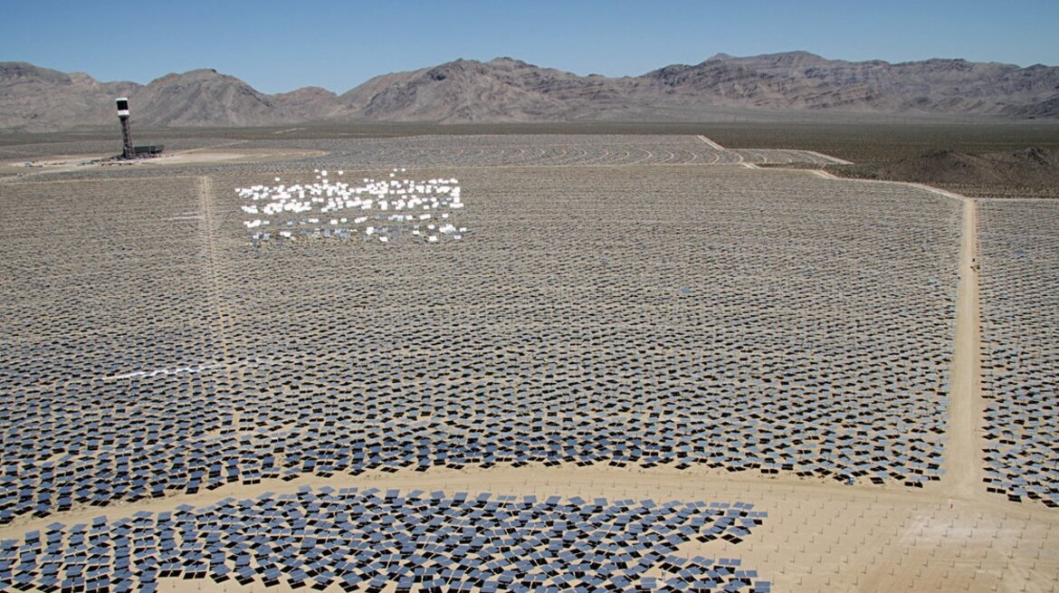The Ivanpah solar project in California's Mojave Desert