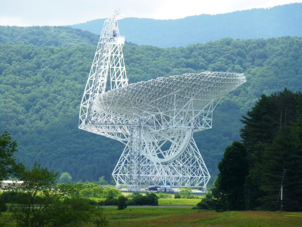 Green Bank or Quiet Zone radio telescope in West Virginia