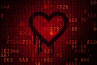 A concept image of the Heartbleed bug.