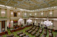 The California Assembly floor in Sacramento.