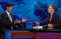 Aneesh Chopra with Jon Stewart on The Daily Show