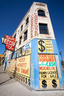 Vacant commercial buildings in Detroit, Michigan