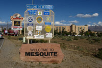 Mesquite, Nevada, welcome sign