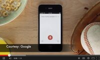 Screenshot of YouTube video on Google voice search