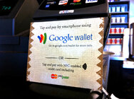 Google wallet mobile payment app at a Pete's coffee house.