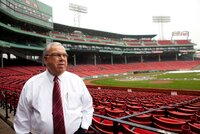 Outgoing Boston Mayor Tom Menino at Fenway Park