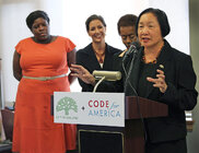Mayor Jean Quan at an OpenOakland event