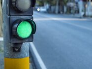 Stoplight with a green light