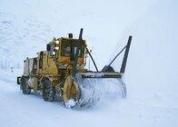 Snowplow used in Valdez, Alaska, which uses GPS and heads-up display technology