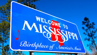 Welcome to Mississippi sign.