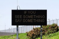 See something, say something sign