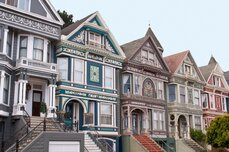 A row of homes in San Francisco, Calif.