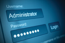 Administrator user name and password login