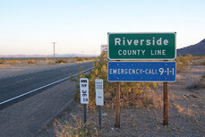 Riverside County line