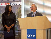 General Services Administration Administrator Denise Tuner Roth and San Francisco Mayor Ed Lee