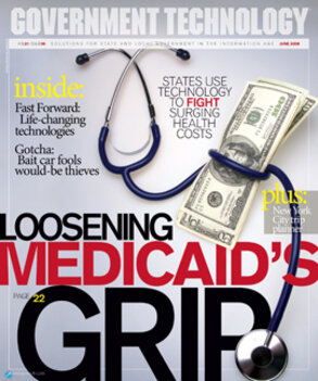 Stethoscope around a pile of money representing states using technology to fight Medicare costs