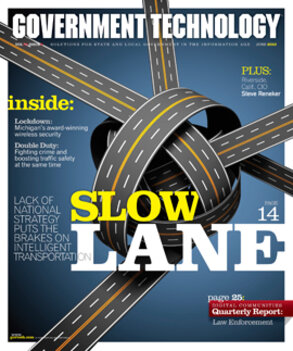 Road tied in knots indicating slowdown in intelligent transportation