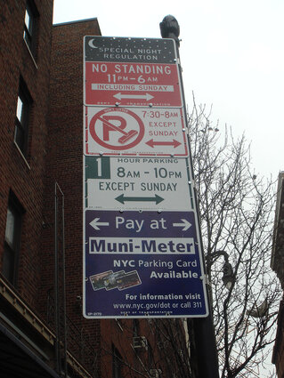 Parking regulations in NYC
