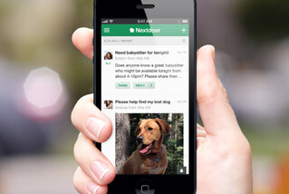 Nextdoor app open on a smartphone