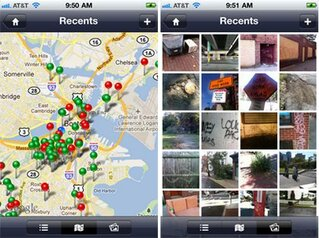 Screenshot of Boston Citizens Connect app