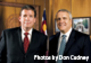 Colorado CIO Mike Locatis (left) and Gov. Bill Ritter