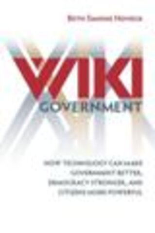 Beth Noveck, Wiki Government book cover/Image courtesy of Brookings Institution Press
