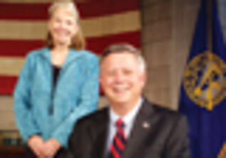 Gov. Dave Heineman, CIO Brenda Decker, Nebraska/Photo by