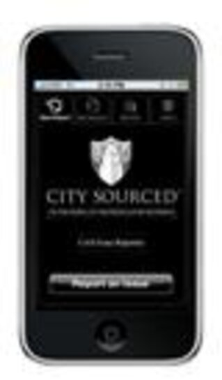 iPhone with CitySourced/San Jose 311 image/Photo courtesy of CitySourced