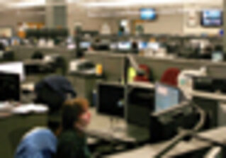 The San Jose call center handles approximately 1 million calls annually/Photo Courtesy of the San Jose Police Department.