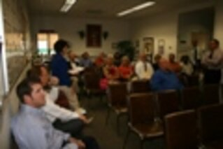 Polk County, Fla., managers prior to an e-town hall meeting/Photo courtesy of Polk County