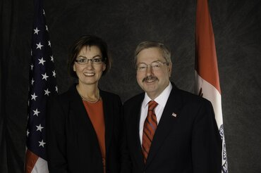 Iowa Lt. Gov. Kim Reynolds and Gov. Terry Branstad.