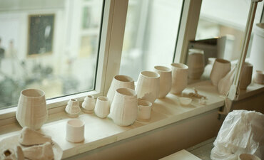 The 3-D printing lab at the Royal Institute of Art in Stockholm, where Charles Stern and Esther Ericsson print ceramics.