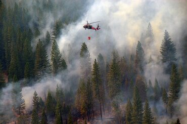 California Army and Air National Guard helicopter pilots aid in a fire response