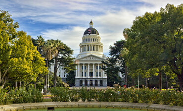 California's state capitol building in Sacramento.
