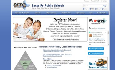 The Santa Fe Public Schools website is not accessible for people with disabilities.
