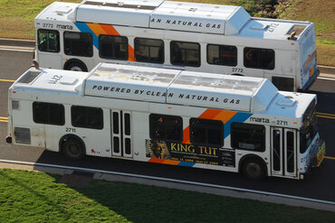 Natural gas-powered buses in Atlanta, Ga.