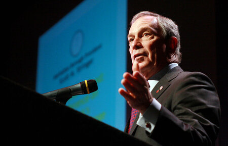 Outgoing three-term New York City Mayor Michael Bloomberg