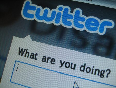 Screenshot of the Twitter 'what are you doing' box