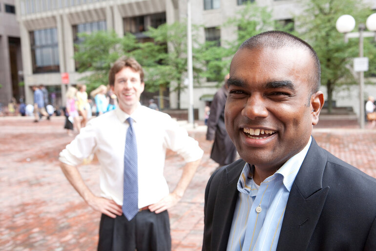 Nigel Jacob (pictured in the foreground), co-chair of the Boston Mayor's Office of New Urban Mechanics.