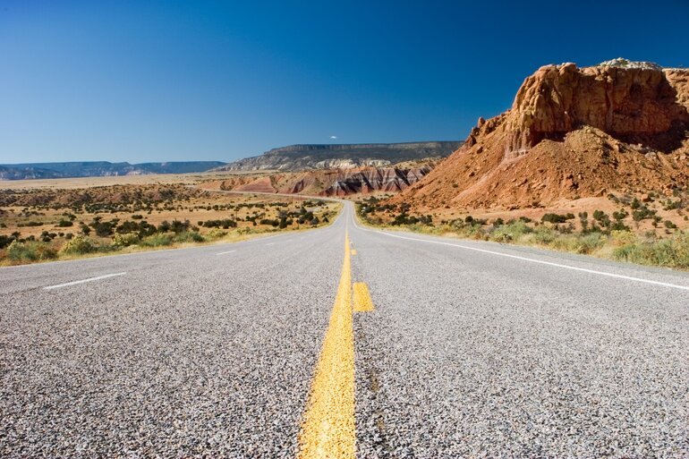 A New Mexico roadway.