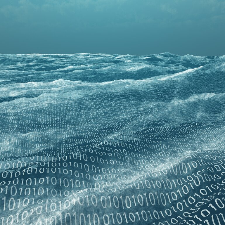 Vast binary code sea.