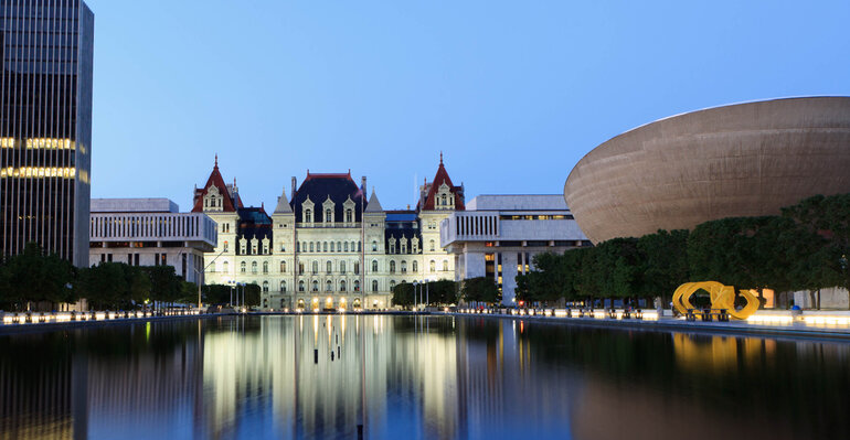State capitol in Albany, New York
