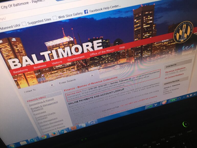 Baltimore bill pay website