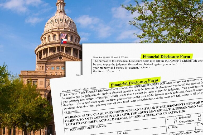 Texas financial disclosure forms