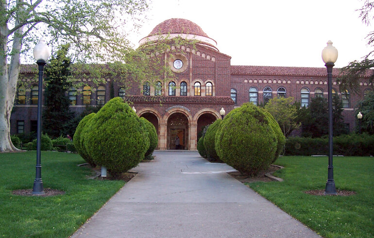 Kendall Hall at Chico State University in Chico, California