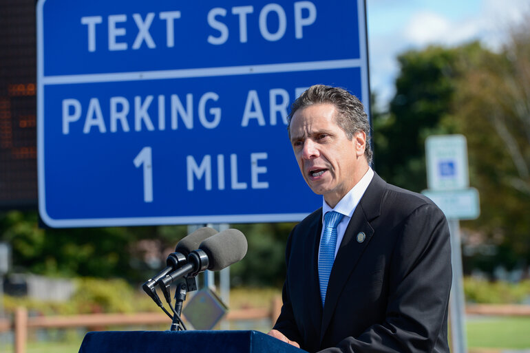 Governor Andrew Cuomo announcing text stops in New York State