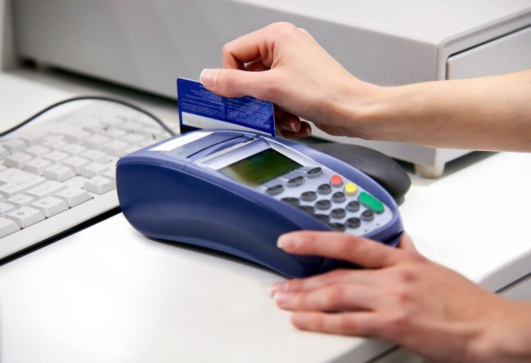 Making a purchase using a debit card
