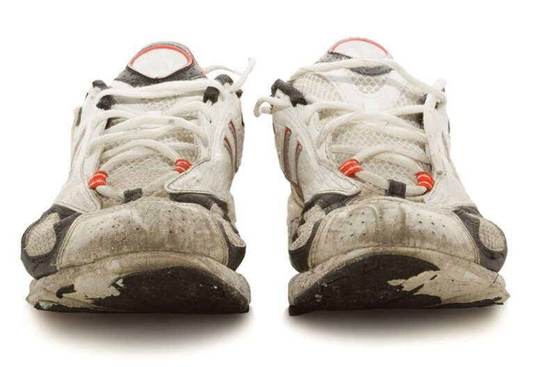 Dirty sneakers for column on tips that government innovators can learn from marathoners