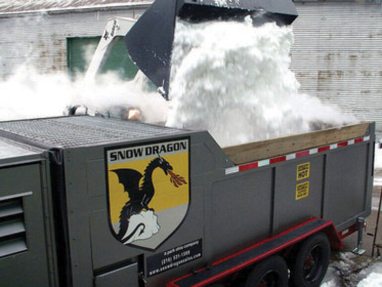 Snow removal, Dragon, New York City